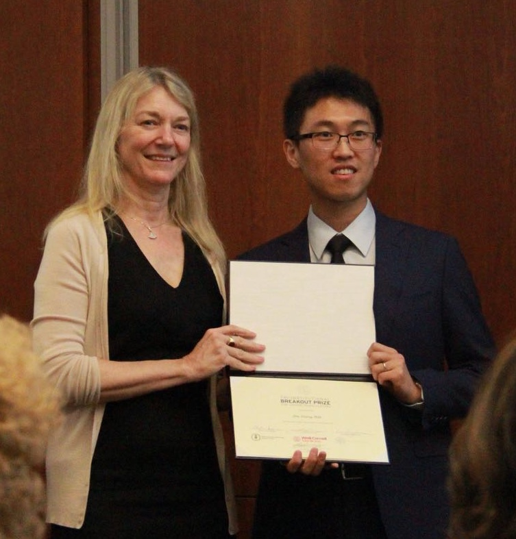 Dr. Zhang awarded Breakout Award